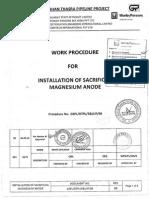 Installation of Sacrificial Magnesium Anode