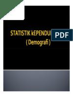 STATISTIK kEPENDUDUKAN
