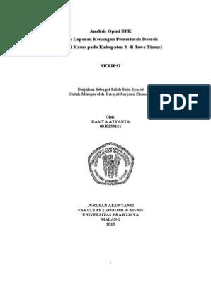 Judul Skripsi Audit Yang Menggunakan Data Sekunder Kumpulan Berbagai Skripsi