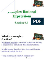 Complex Rational Expression