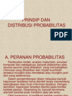 Prinsip & Distribusi Probabilitas