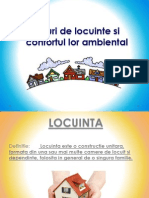 Tipuri de Locuinte Si Confortul Lor Ambiental