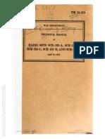 TM 11-273 RADIO SETS SCR-193-A,B,C,D,E APRIL 1941