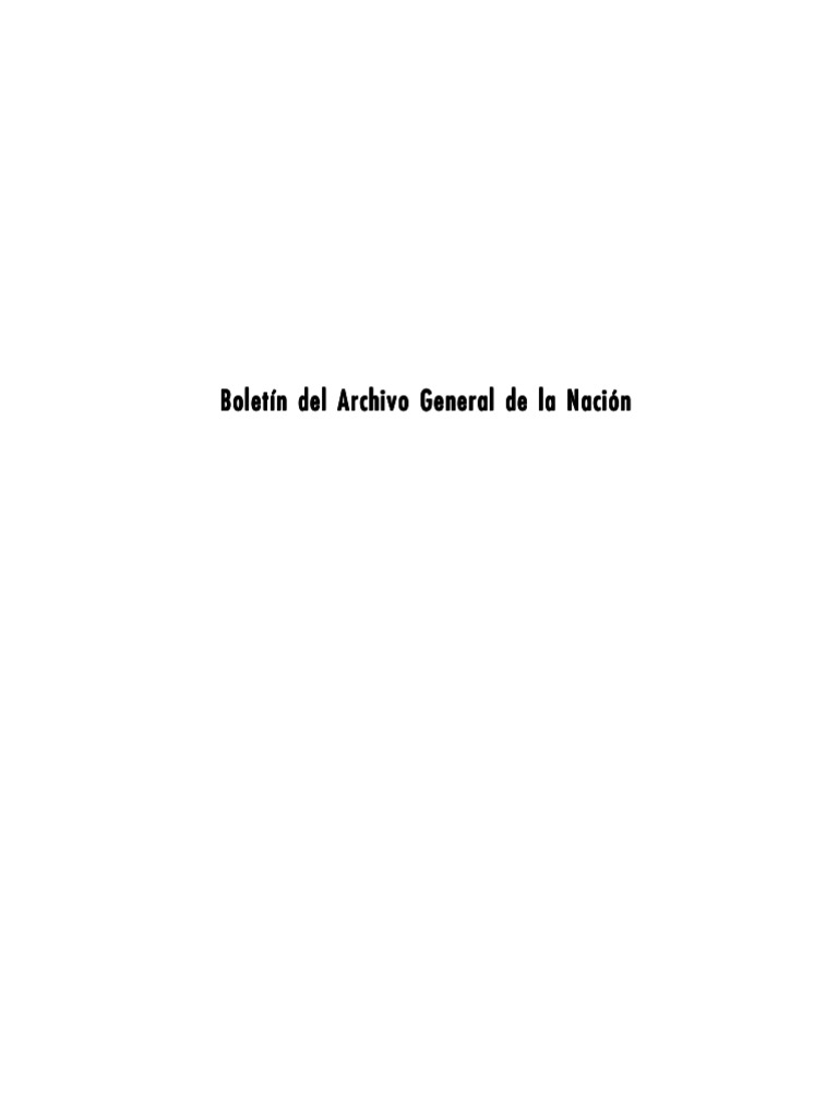 BOLETIN DEL ARCHIVO GENERAL DE LA NACION - 113