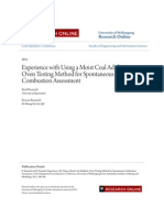 Experience With Using a Moist Coal Adiabatic Oven Testing Method