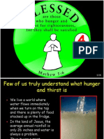 Beatitudes 4 Blessed Are Those Who Hunger