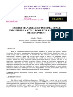 Energy Management in Small Scale Industries a Vital Tool for Sustainable Development