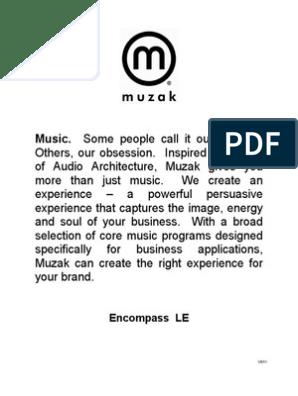 Muzak Program Guide 1 | Country Music | Rock Music