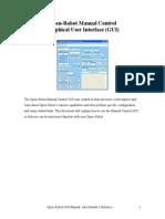 OpenRobot GUI Manual