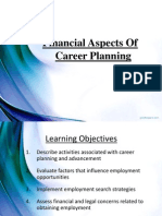 Financial Aspects of Career Planing