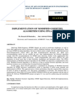 Implementation of Modified Goertzel Algorithm Using Fpga