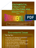 Environmental Literacy for Administrators and Educators - Environmental Issues