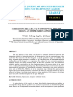 Integrating Reliability in Conceptual Process Design an Optimization Approach
