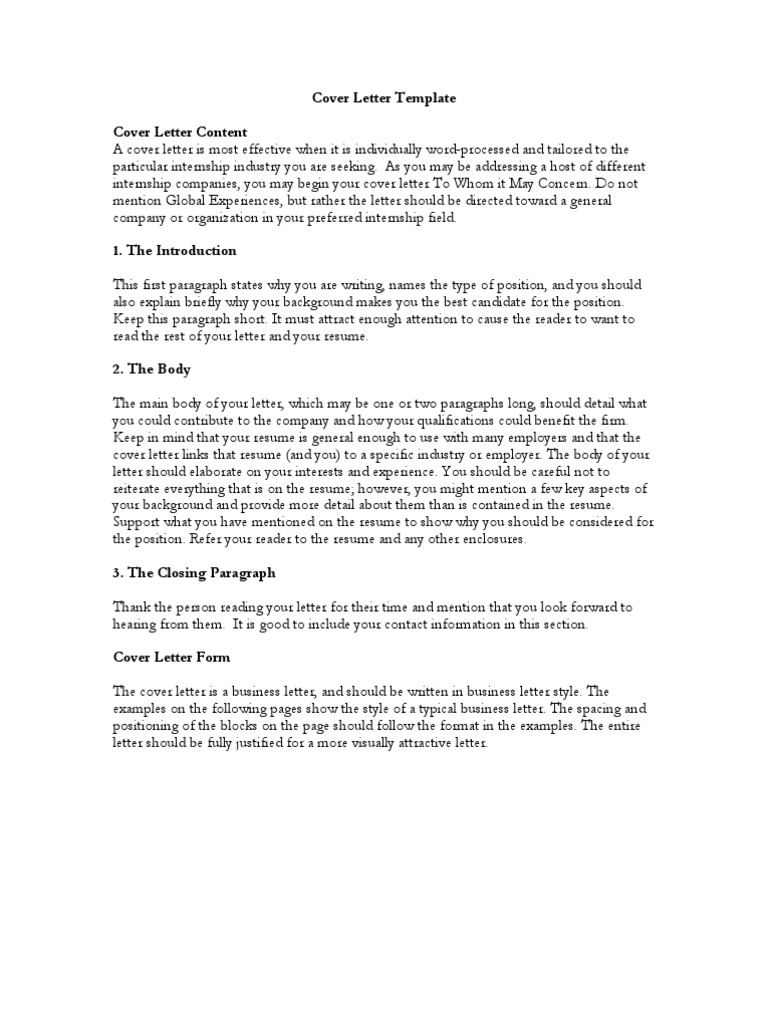 Cover Letter Template Cover Letter Content A Cover Letter Is - How-to-begin-a-cover-letter