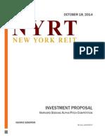 NYRT Stock Pitch