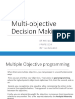 Multi-objective Decision Making
