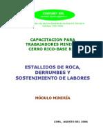 Estallidos de Roca, Derrumbes y Sostenimiento de Labores