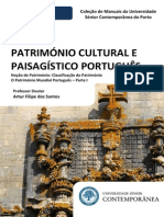 Manual de Património Cultural I (Preview) - Património Mundial Português - Parte I - Artur Filipe Dos Santos - Edições da Universidade Sénior Contemporânea