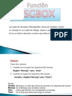FUNCION MSGBOX