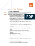 jennifer edson resume short