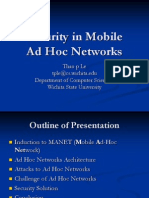 security in mobile adhoc networks