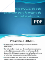 A1 Preambulo de La LOMCE