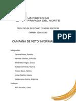 Informe de campaña de voto Informado UPN 2014