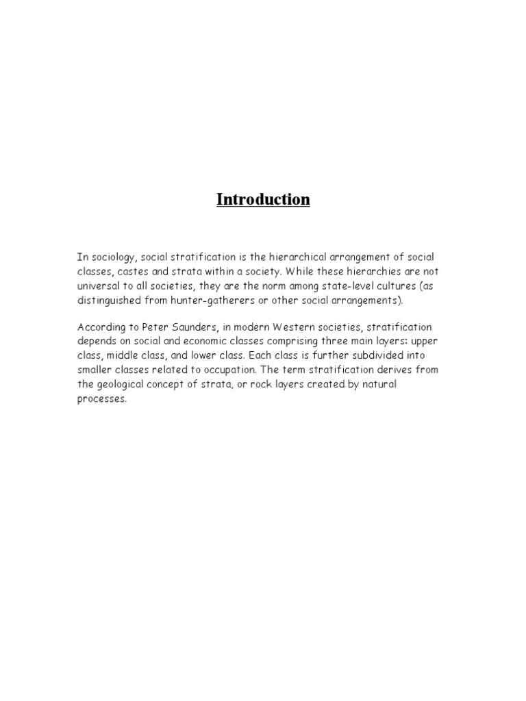 social stratification according to karl marx