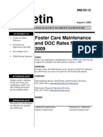 Minnesota Foster Care Rates 2009