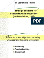 Six Strategic Decisions for Transportation in Mega Cities -- Gakenheimer(1994)