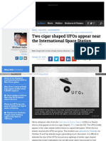 Www Examiner Com Article Two Cigar Shaped Ufos Appear Near t
