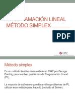 Programación Lineal Método Simplex