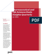 Pwc Pharma Deals Insights q1 2014