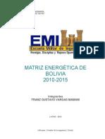 Balance Energetico Grupo de bolivia