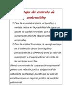 Ventajas Del Contrato de Underwritilng