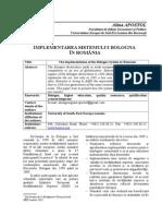 Implementarea Sistemului Bologna În România
