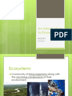 an introduction to ecosystems