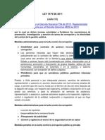 Analisis LEY 1474 de 2011