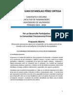 Programa Abierto Decanatura 2015-2018 Juan Estanislao Pérez