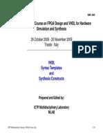 VHDL Templates 2009
