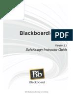 Bb 91 SafeAssign Instructor Guide