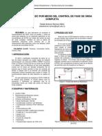 Convertidor Ac-Dc Por Medio Del Control Fase en Media Onda