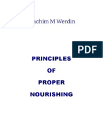 Principles of Proper Nourishing