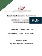 Texto de Desarrollo de La Sociedad I-2014