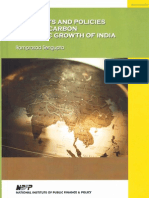 Prospects and Policies for Low Carbon Economic Growth of India