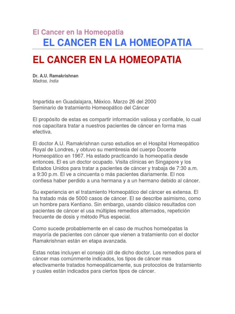 remedios homeopáticos para el cáncer de próstata