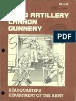 FM 640 1981 OBSOLETE Field Artillery Cannon Gunnery