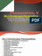 PSICOTERAPIAS, V CapituloPsicoterapia Psicoanalítica