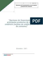 Opciones de Financiamiento en productos de consumo 2012
