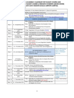 Kalendar2014-2015 MASTER Sem I